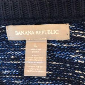 Banana Republic sz Large zip Cardigan Sweater 💙